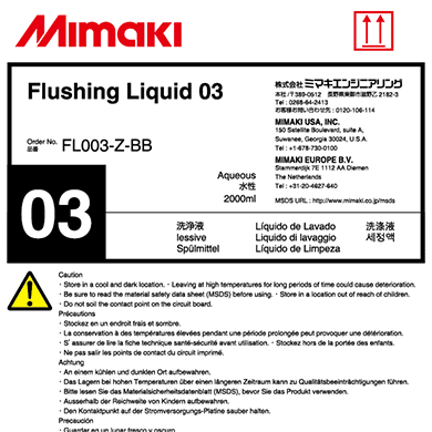 FL003-Z-BB Flushing liquid 03 2L Bottle