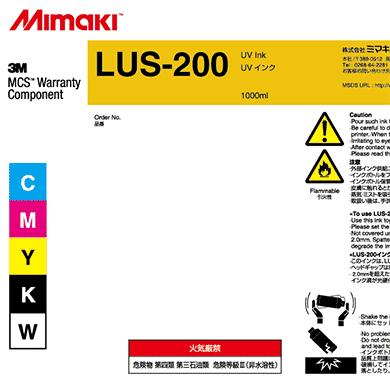 LUS20-K-BA LUS-200 UV curable ink 1L bottle Black